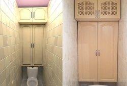Шкаф встраеваемый  для туалета или ванной